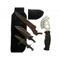 Комлект брадва, ножове и трион