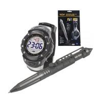 Тактическа химикалка и часовник UZI - комплект