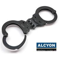 Испански белезници - Alcyon 5021 Твърда връзка - Черни