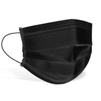 Двупластова памучна маска за лице - черна